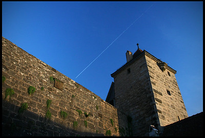 Old Town Wall, sunset
