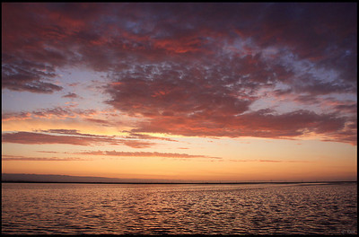 Sunset and Afterglow, Alviso Marina County Park