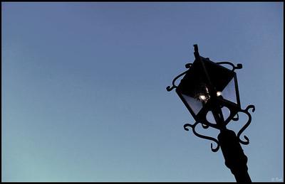 Lamp Post at Sunset, Villa Montalvo