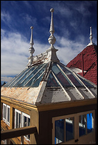 Colorful rooftop, Winchester House