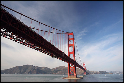 Golden Gate Bridge viewed from Fort Point, San Francisco