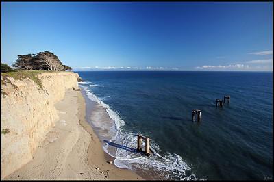 Deserted pier at Davenport, CA