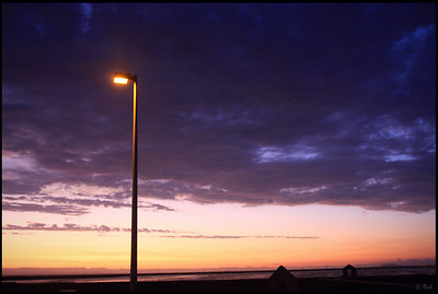 Lamp Post at Sunset, Alviso Marina County Park