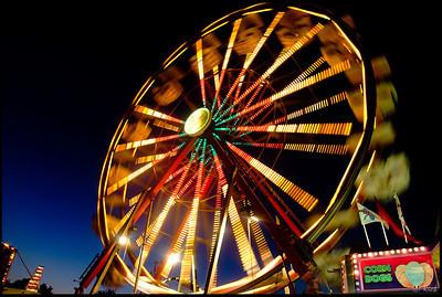 Ferris Wheel at San Mateo County Fair Carnival