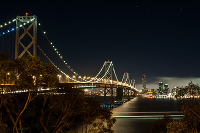 """The Bay Bridge at Night"" - From Treasure Island, California"