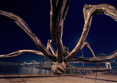 """Crouching Spider"" - A 27-foot-wide, 2 1/2-ton bronze spider in the Embarcadero by  Louise Bourgeois, San Francisco, California (2008)"