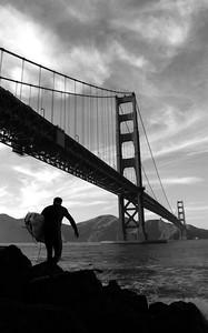 """Golden Gate Surfer""- Fort Point National Historic Site, San Francisco, California"