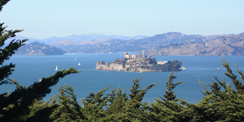 Alcatraz Island from Coit Tower