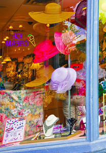 """Hats on Broadway,"" Saratoga Springs, NY."