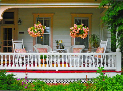 """White Wicker Porch,"" Saratoga Springs, NY."