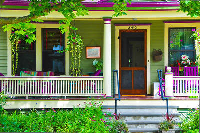 """Purple Passion Porch,"" Saratoga Springs, NY."