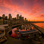 Seattle Downtown sunrise, Pier 66, Seattle