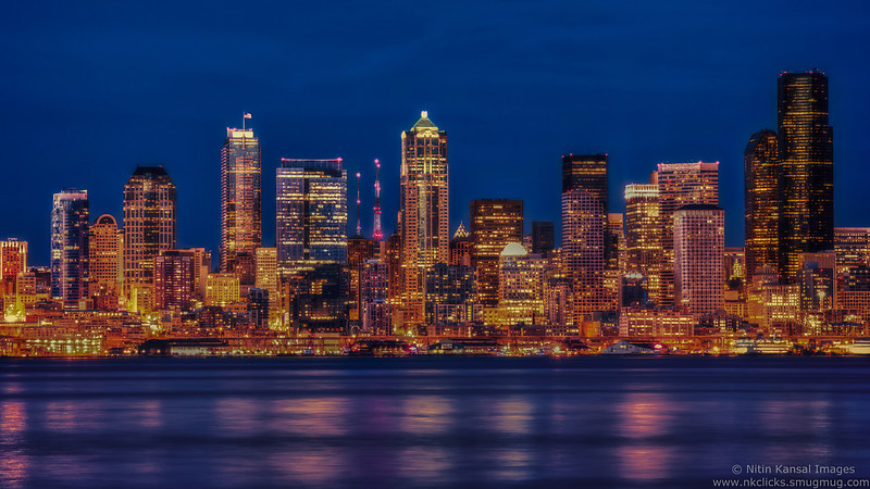 Golden City - Blue hour