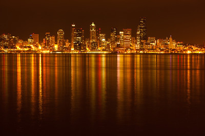 Seattle skyline from Alki Beach