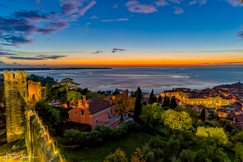 Blue Hour From Above Piran