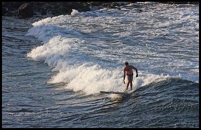 Surfer at La Jolla Cove