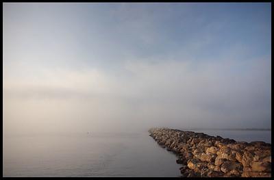 Foggy morning at Ventura Beach