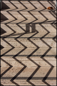 Shadow at the stairway, the Getty