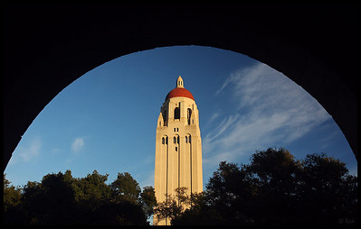 Hoover Tower, seen from the Main Quad