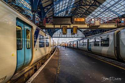 The trains awaiting......