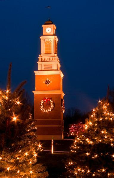 Clock Tower at Christmas