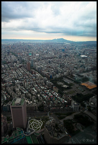 View from atop Taipei 101, the second tallest building in the world.