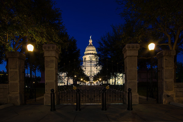 """Gates of the Capitol"" Austin, Texas"
