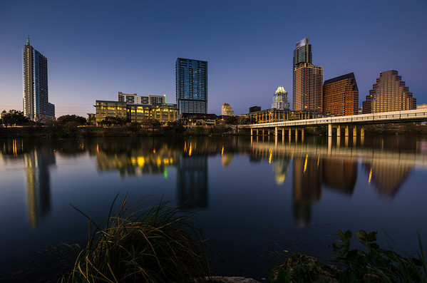 """Town Lake at Dusk"" Austin, Texas"