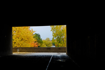 Au bout du tunnel. At the end of the tunnel.