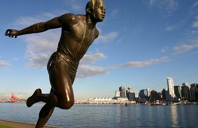 Runner statue, Stanley Park