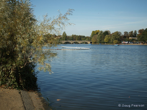 A view of The Serpentine, Hyde Park, London, UK