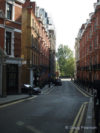 A typical side street, London, UK