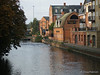 Various buildings along the Kennet River in Reading, UK