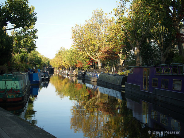 A canal leading to Little Venice, London, UK