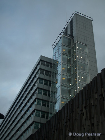 Tall building in downtown Reading, UK