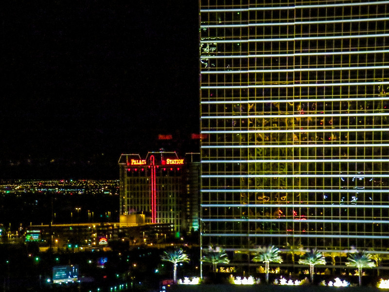 Vegas night scene from my hotel window, Las Vegas NV