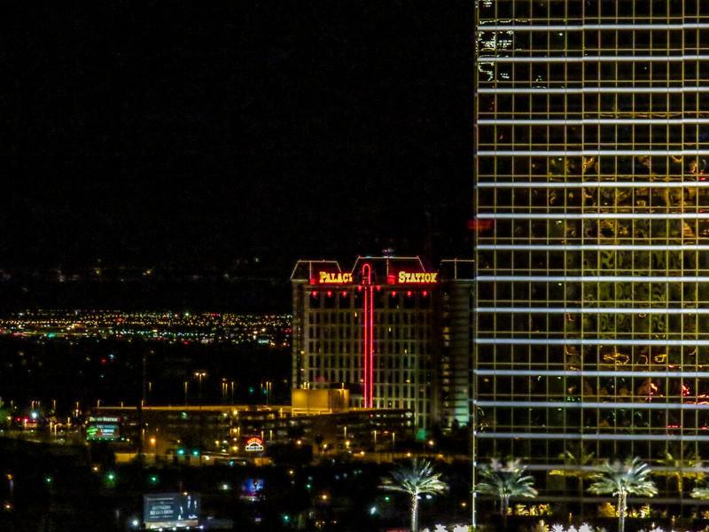 Vegas night scene from my hotel window, Las Vegas NV