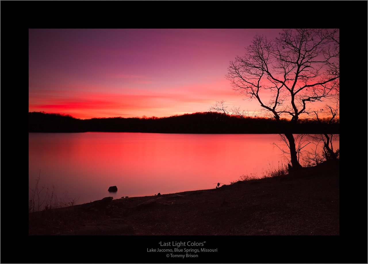 A 181-sec. exposure of the final colors at Lake Jacomo in Blue Springs, Missouri,