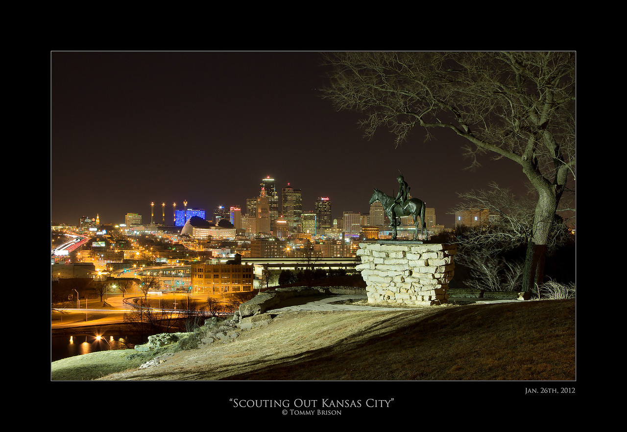 Scouting Out Kansas City.  Shot last night on Jan. 26th 2012.  Some will ask why are you sharing this photo so large.  The answer is, I am not happy with it.  The wind picked up and blurred some of the branches on the right side of the photo.  Plus this is not the prime sky conditions I am wanting to shoot it in.  I will hit the same locations time after time.  Printed ones must be perfect since I like giving the client only the best.