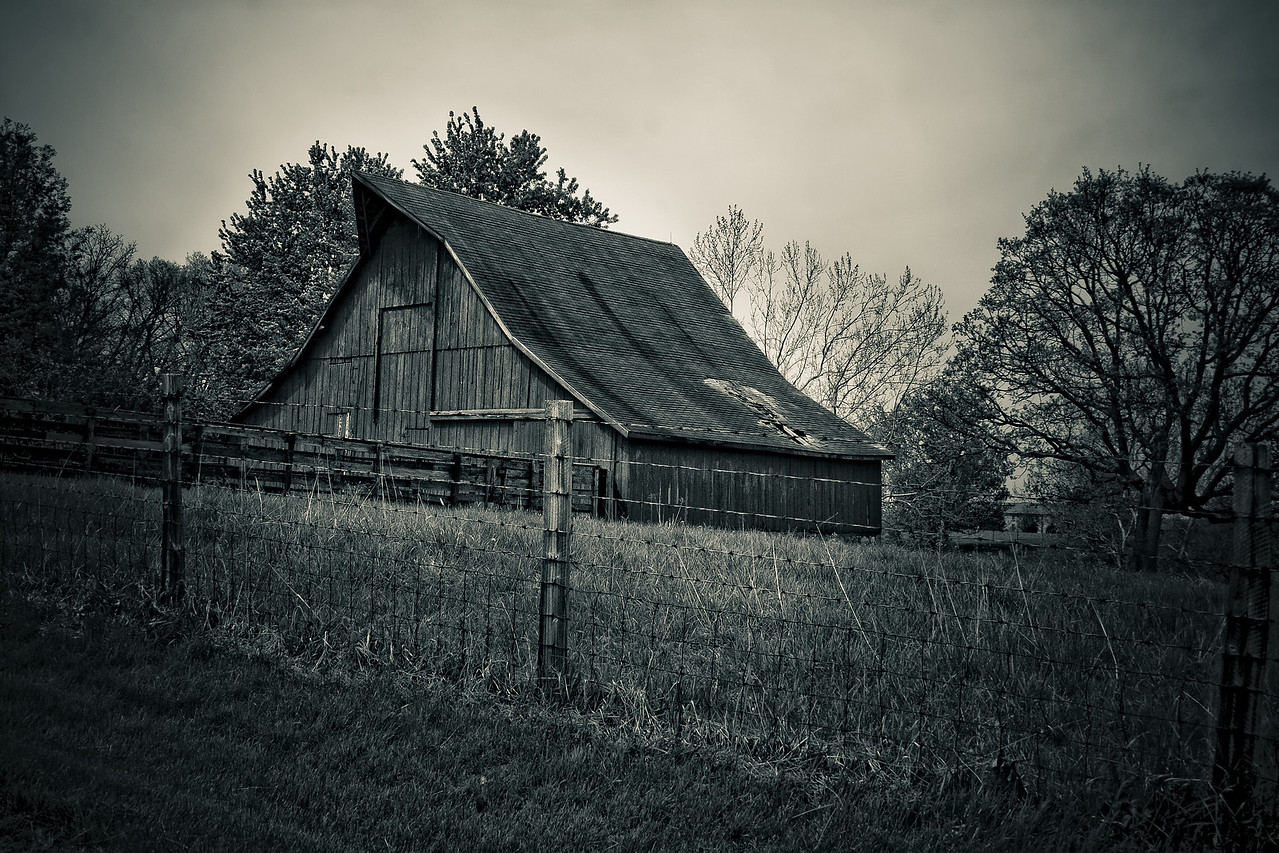 This is an old barn just outside of Blue Springs Lake area.  I love shooting old rustic things.