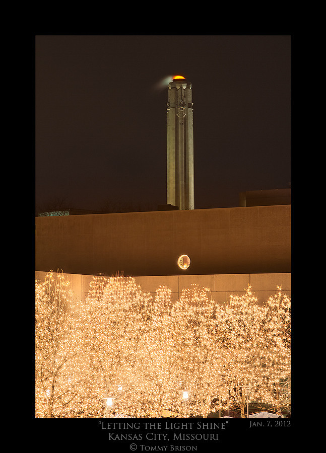 Taken on Jan. 7th, 2012 of the Liberty Memorial.  I wanted to shoot a different view then the normal shot.  This took me to a location away from it and zoom in.