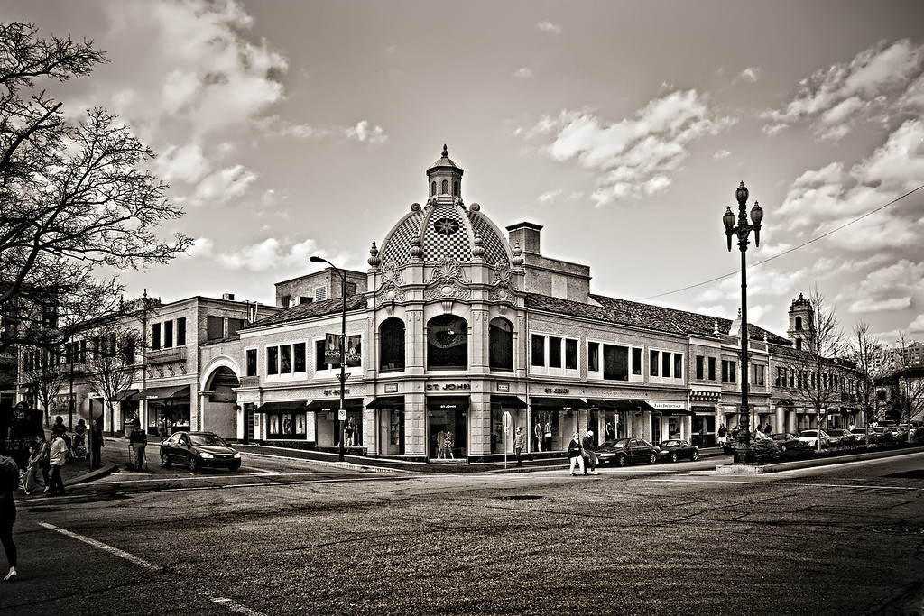 The Kansas City Country Club Plaza is a very popular shopping district in Kansas City, Missouri.