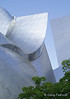 Angles of Walt Disney Concert Hall shine in sunlight