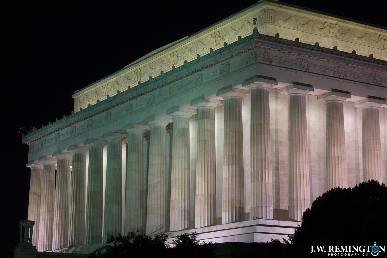 Lincoln Memorial, Northeast Corner, Color