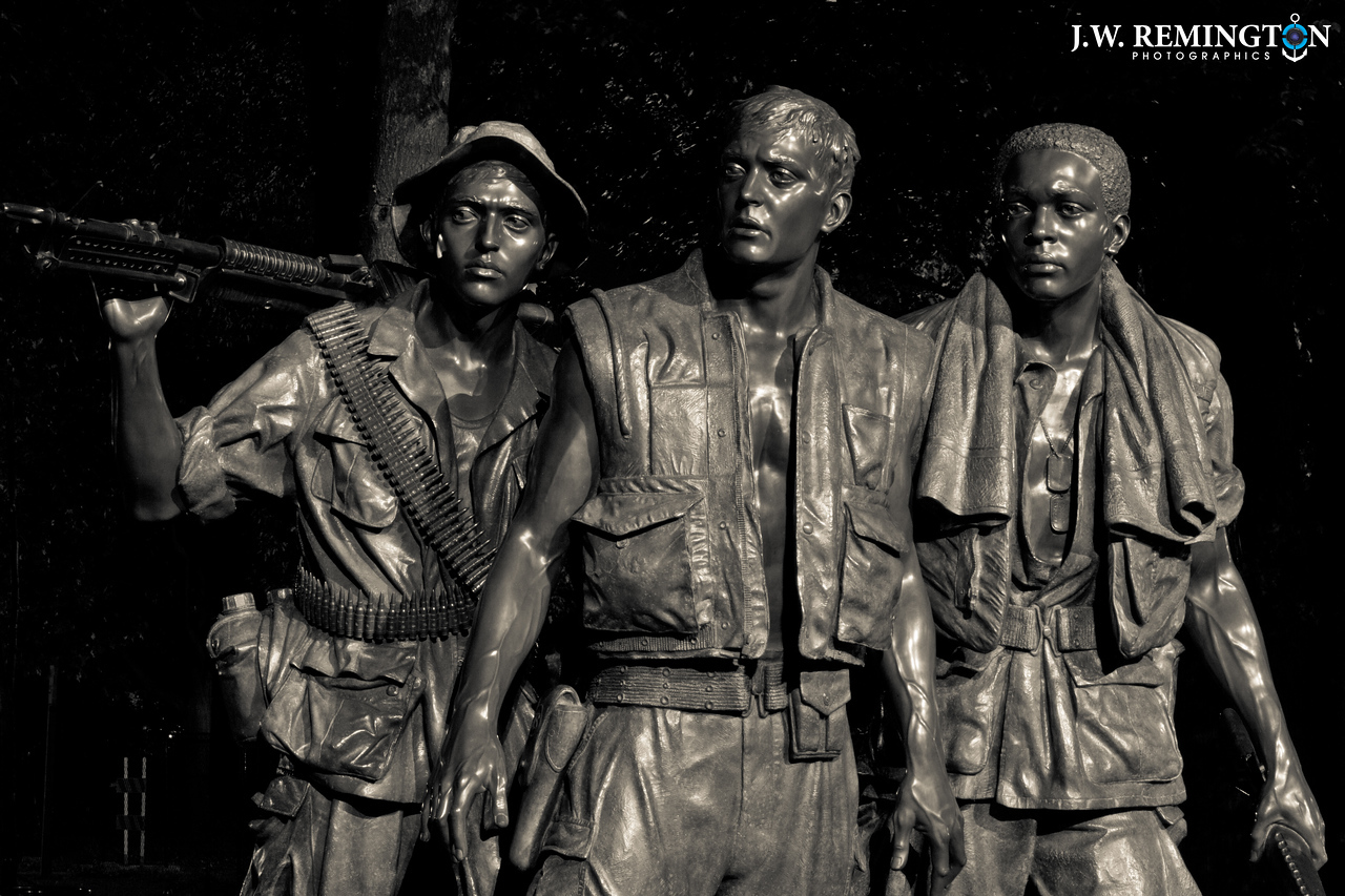 The Three Soldiers, Night, Black & White