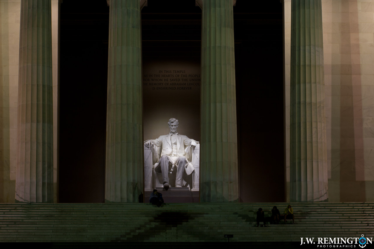Hanging at the Lincoln Memorial by Night