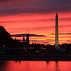 Washington Monument and Smithsonian at Sunset