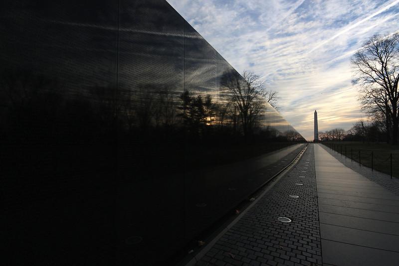 Vietnam Memorial at Sunrise
