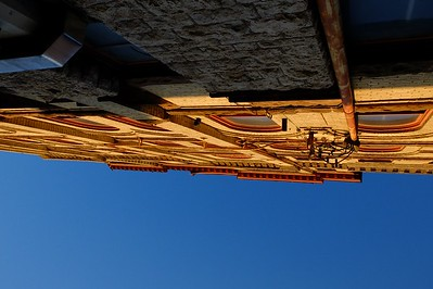 Looking up in the old trading district, downtown Winnipeg.