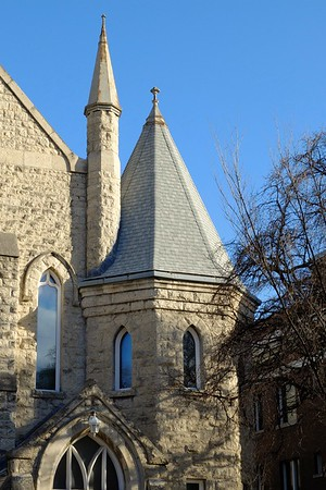 Details of a church in Osborne Village.